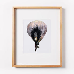 Great Gatsby Feather Hot Air Balloon Print