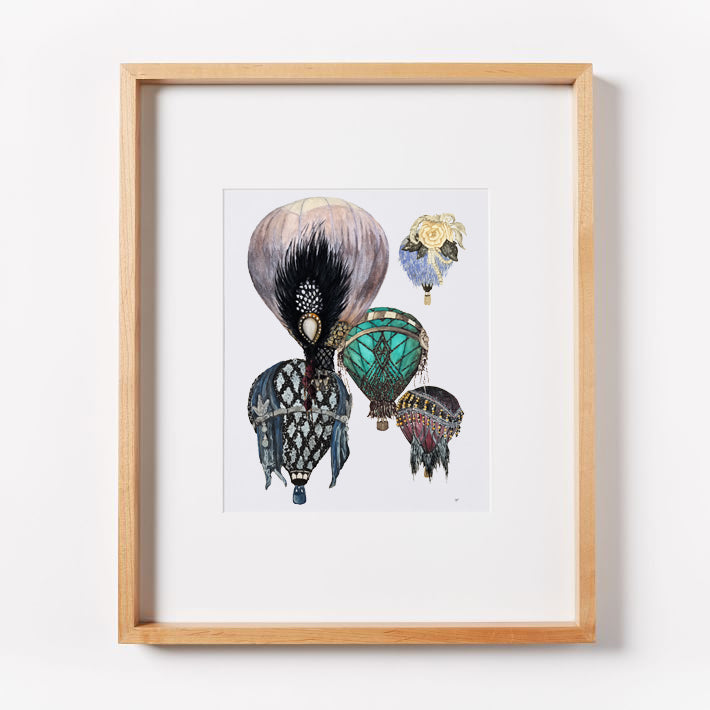 Great Gatsby Hot Air Balloons Cluster Print