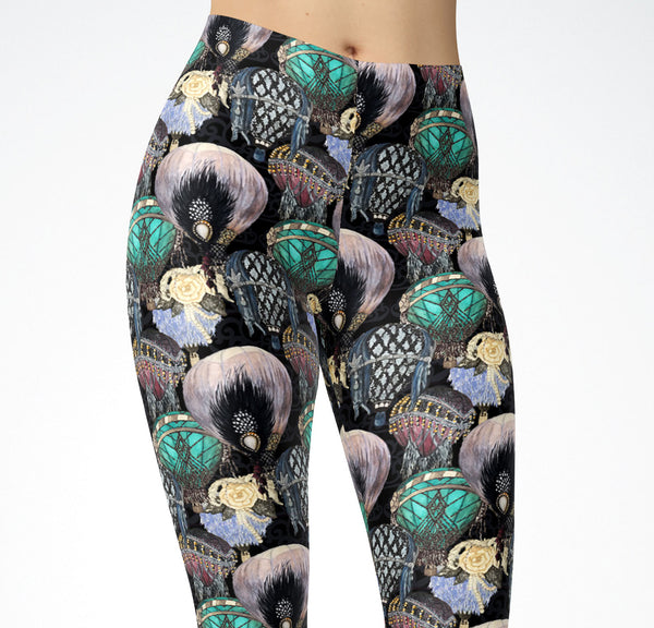 Great Gatsby Hot Air Balloon Leggings
