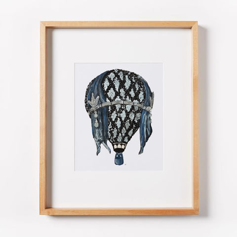 Great Gatsby Lace Hot Air Balloons Print