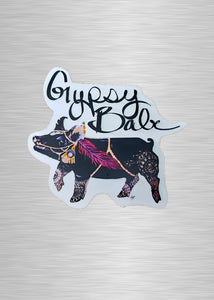 Gypsy Babe Pig Vinyl Sticker/Decal