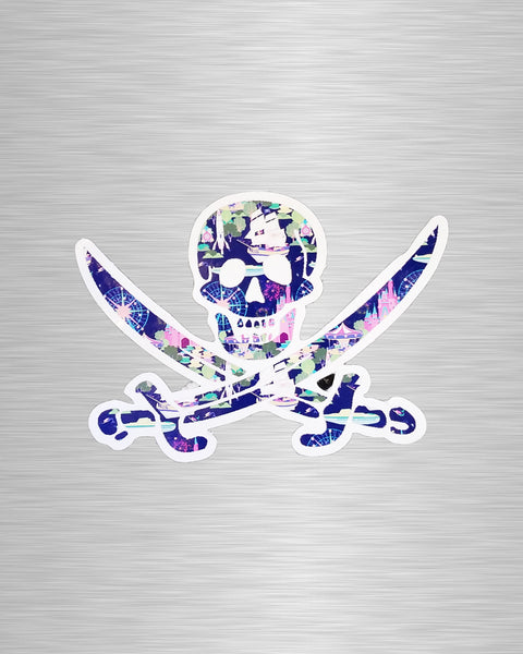 Happy Jolly Roger Vinyl Sticker/Decal
