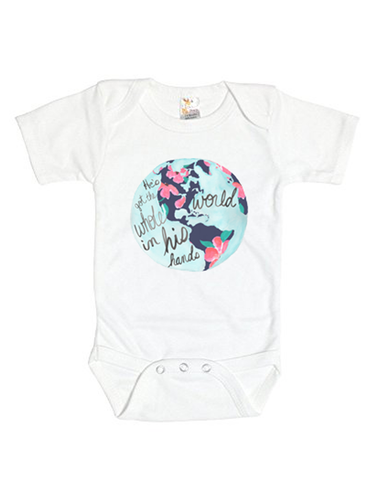 He's Got the Whole World in His Hands Baby Onesie