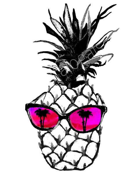 Hot Pineapple in Pink Print