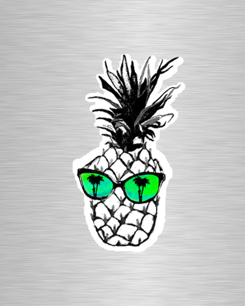 Hot Pineapple in Green Vinyl Sticker/Decal