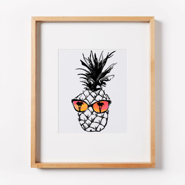 Hot Pineapple in Orange Print