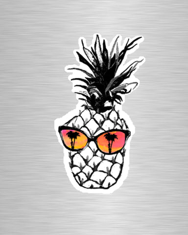 Hot Pineapple in Orange Vinyl Sticker/Decal