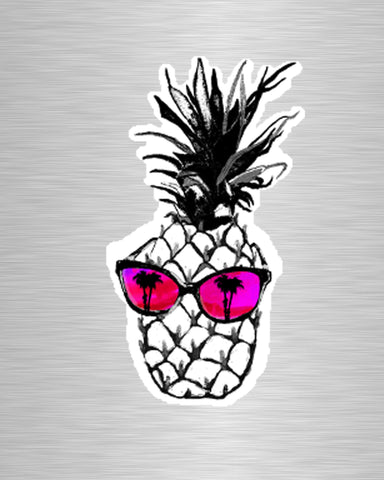 Hot Pineapple in Pink Vinyl Sticker/Decal