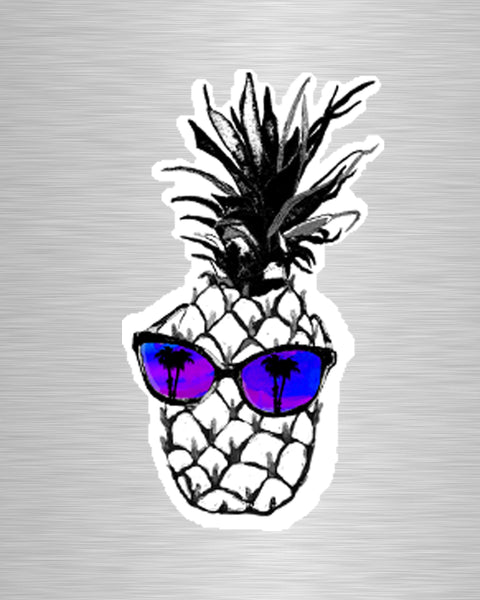 Hot Pineapple in Purple Vinyl Sticker/Decal
