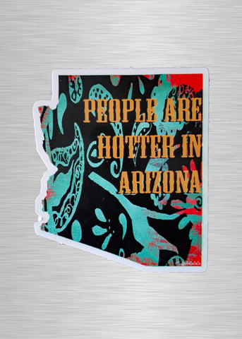 Turquoise Paisley (People Are Hotter in Arizona) Vinyl Sticker/Decal