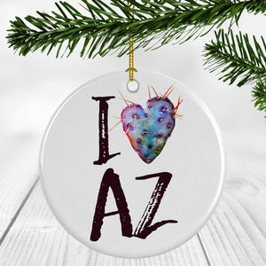 I Heart AZ Ornament