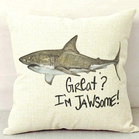 Great? I'm Jawsome! Throw Pillow