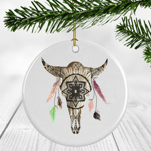 Mandala White Buffalo Ornament