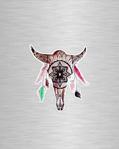 Mandala White Buffalo Vinyl Sticker/Decal