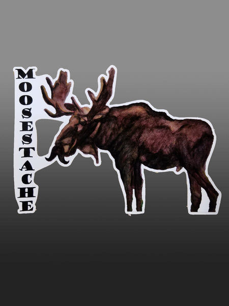 Moosestache Vinyl Sticker/Decal