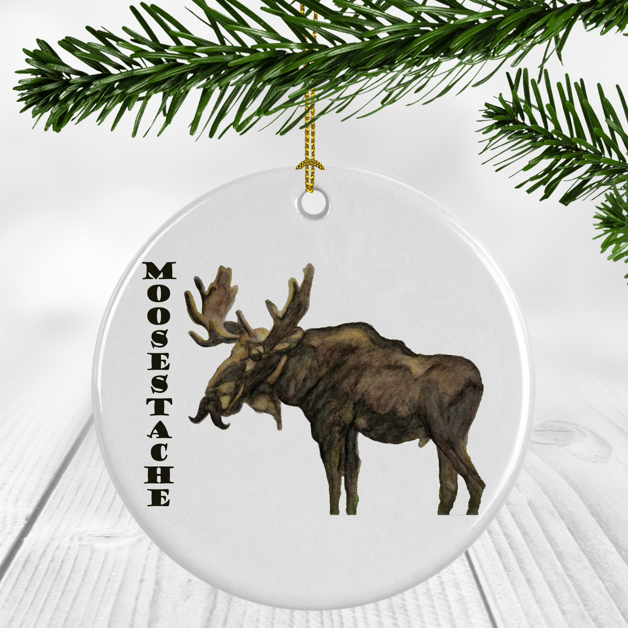Moosestache Ornament