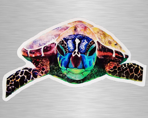 Nosey Sea Turtle Sticker/Decal