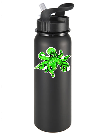 O is for Octopus Green Vinyl Sticker/Decal