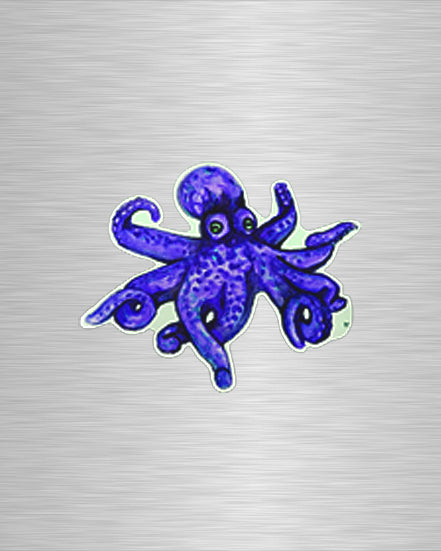 O is for Octopus Purple Vinyl Sticker/Decal