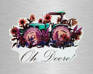Oh Deere Vinyl Sticker/Decal