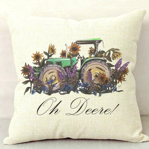 Oh Deere! Throw Pillow