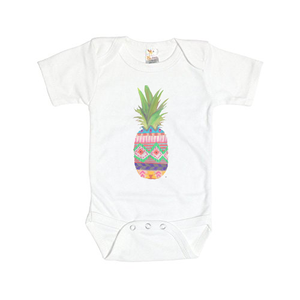 Patterned Pineapple Baby Onesie