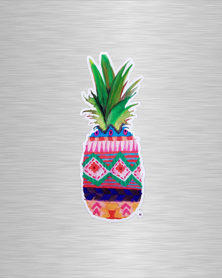 Patterned Pineapple Vinyl Sticker/Decal