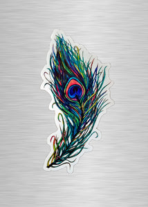 Peacock Feather Vinyl Sticker/Decal