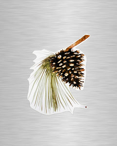 Pinecone Vinyl Sticker/Decal