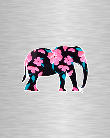 Pink Petal Elephant Vinyl Sticker/Decal