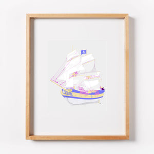 Pirate Ship Print