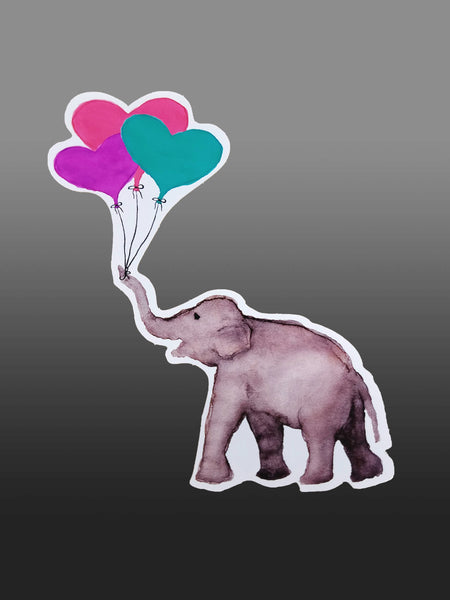 Pure Joy with mint Balloon Bouquet Vinyl Sticker/Decal