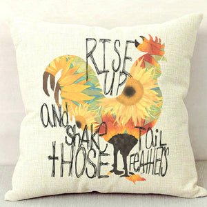 Rise and Shake Throw Pillow