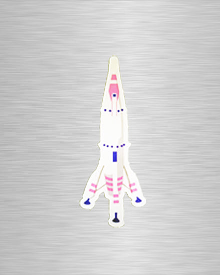 Rocket Vinyl Sticker/Decal