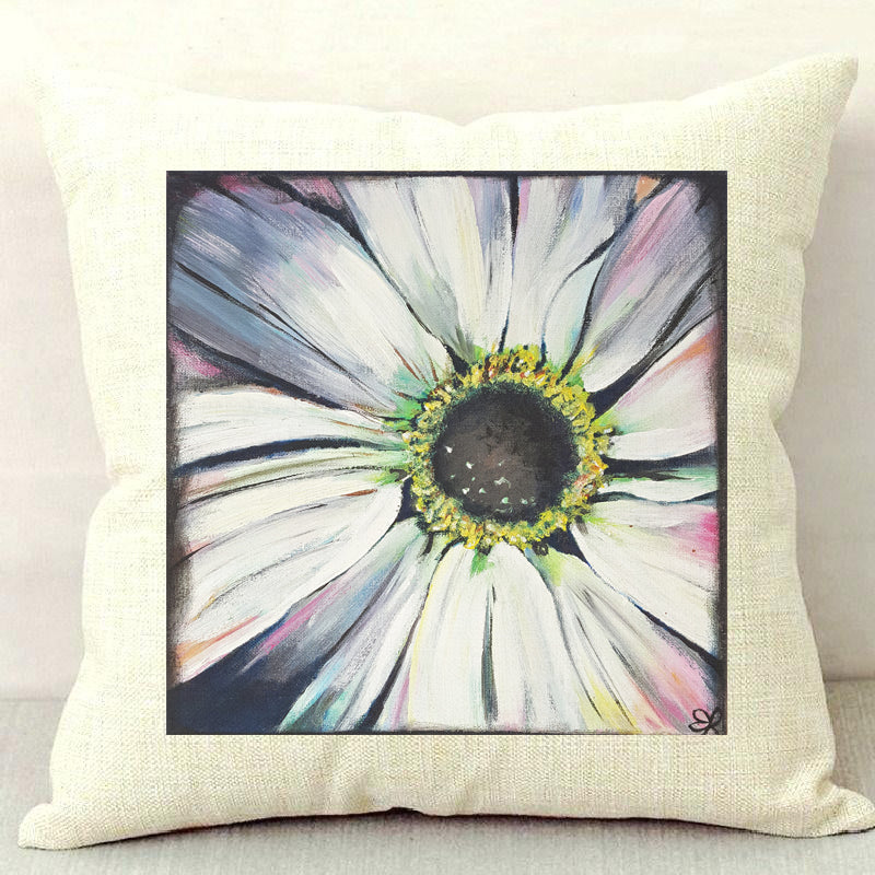 Rustic Daisy Throw Pillow