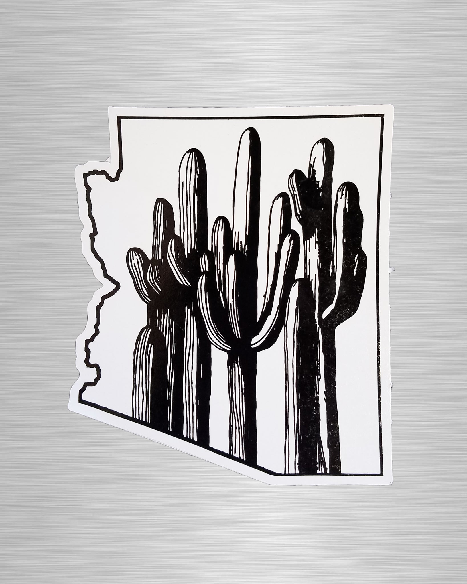 Saguaro Forest (line) Arizona Vinyl Sticker/Decal