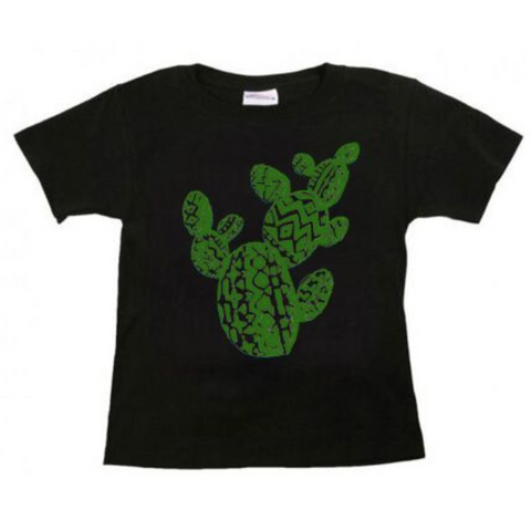 Aztec Prickly Pear On Black Toddler T-Shirt