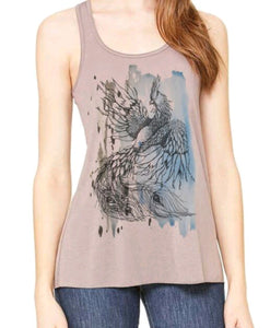 Phoenix on Paint Racerback Tank
