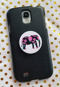 Pink Petal Elephant Pop-Socket