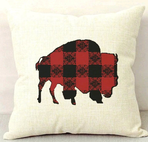 Red Buffalo Gals Buffalo Plaid Buffalo Throw Pillow