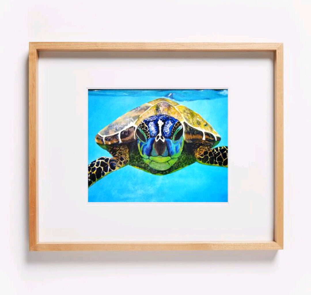 Nosey Sea Turtle Print