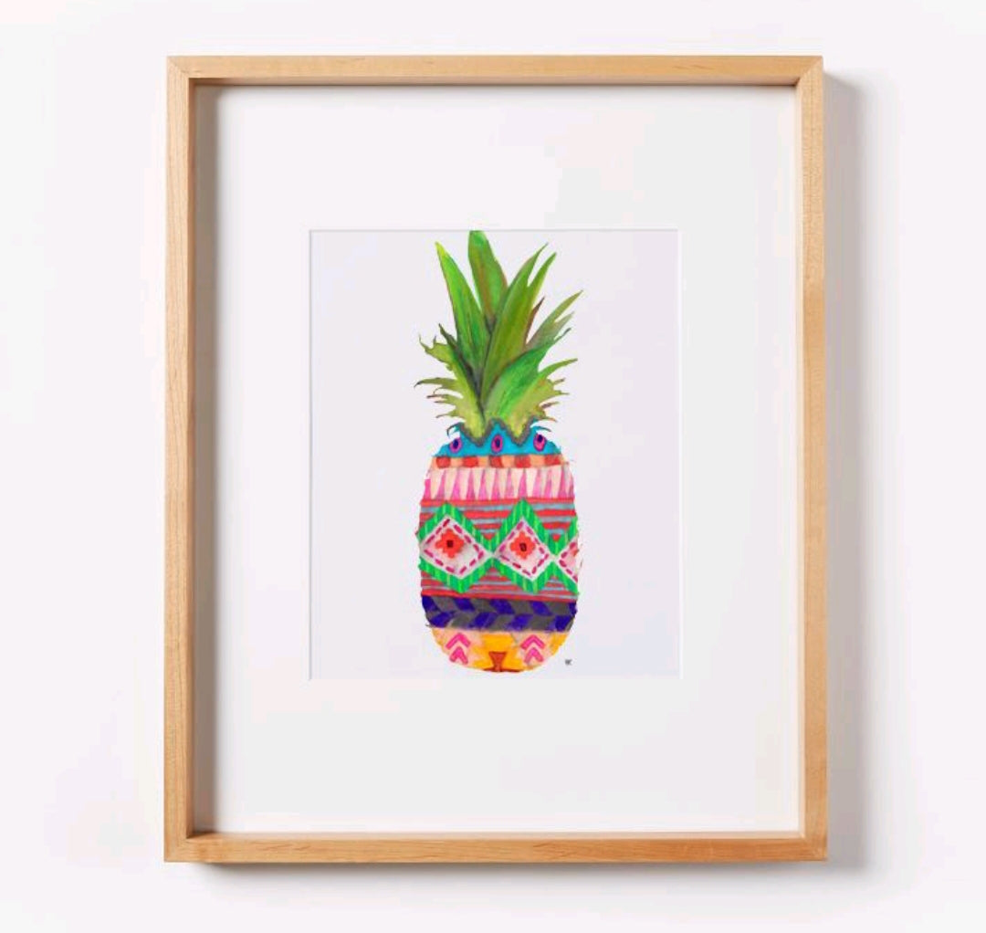 Patterned Pineapple Print
