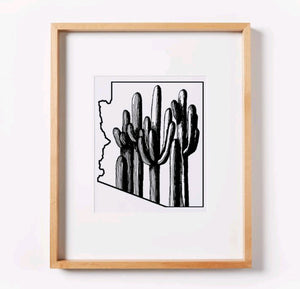 Saguaro Forest (line) Arizona Print