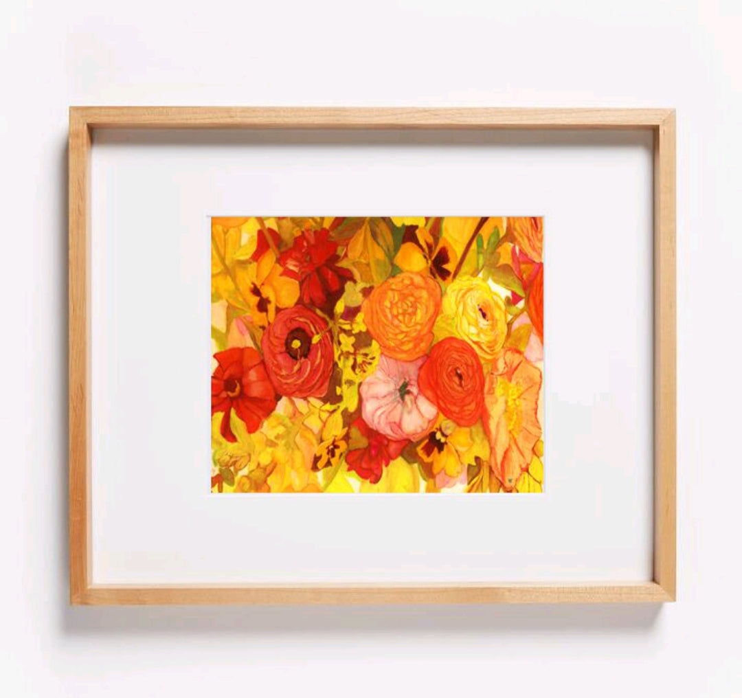 Sunset Poppy Bouquet Print