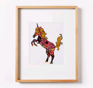 Tatted Unicorn Print