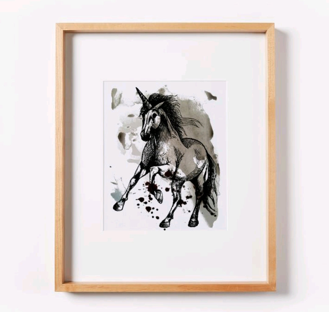 Unicorn on Paint Print