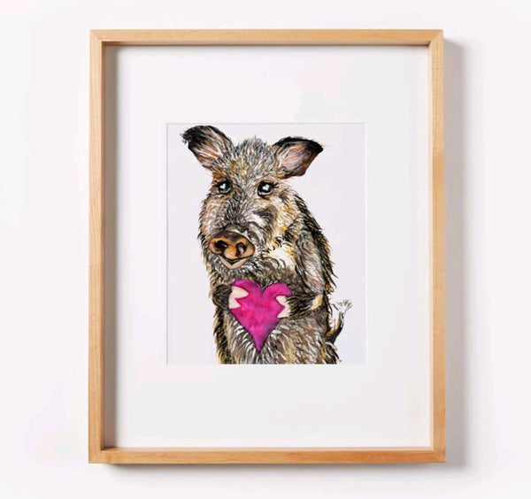 You Javelina My Heart Print