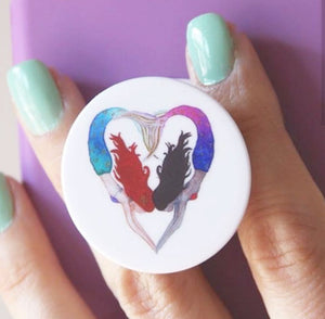I Heart Mermaids Pop-Socket