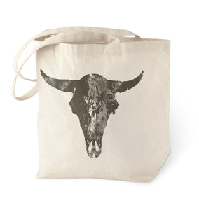 White Buffalo Turquoise Skull Tote Bag
