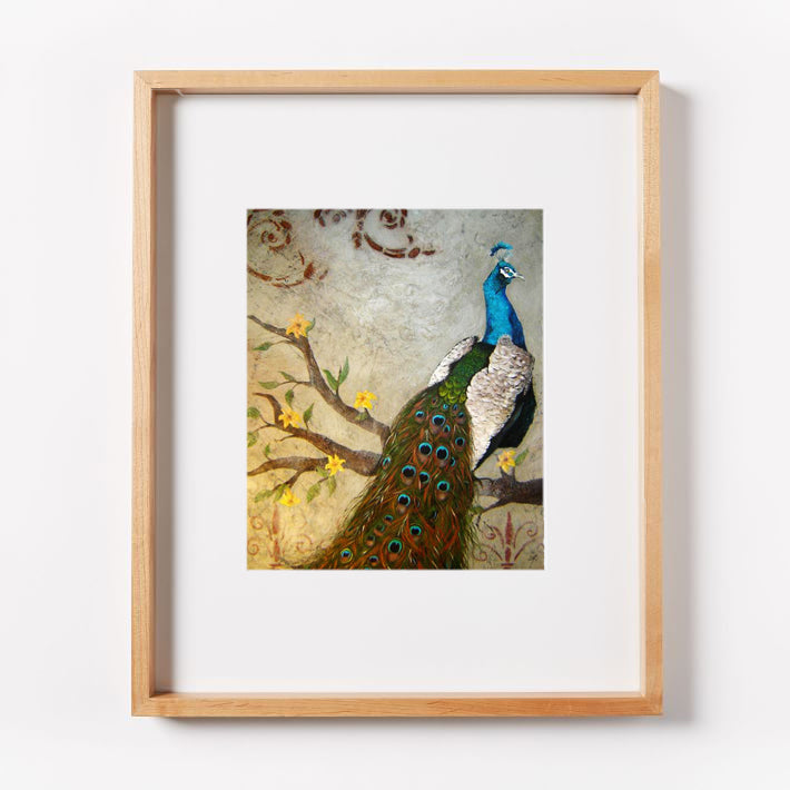 Solitude Peacock Print
